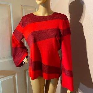 INC women's 2 tone red blouse